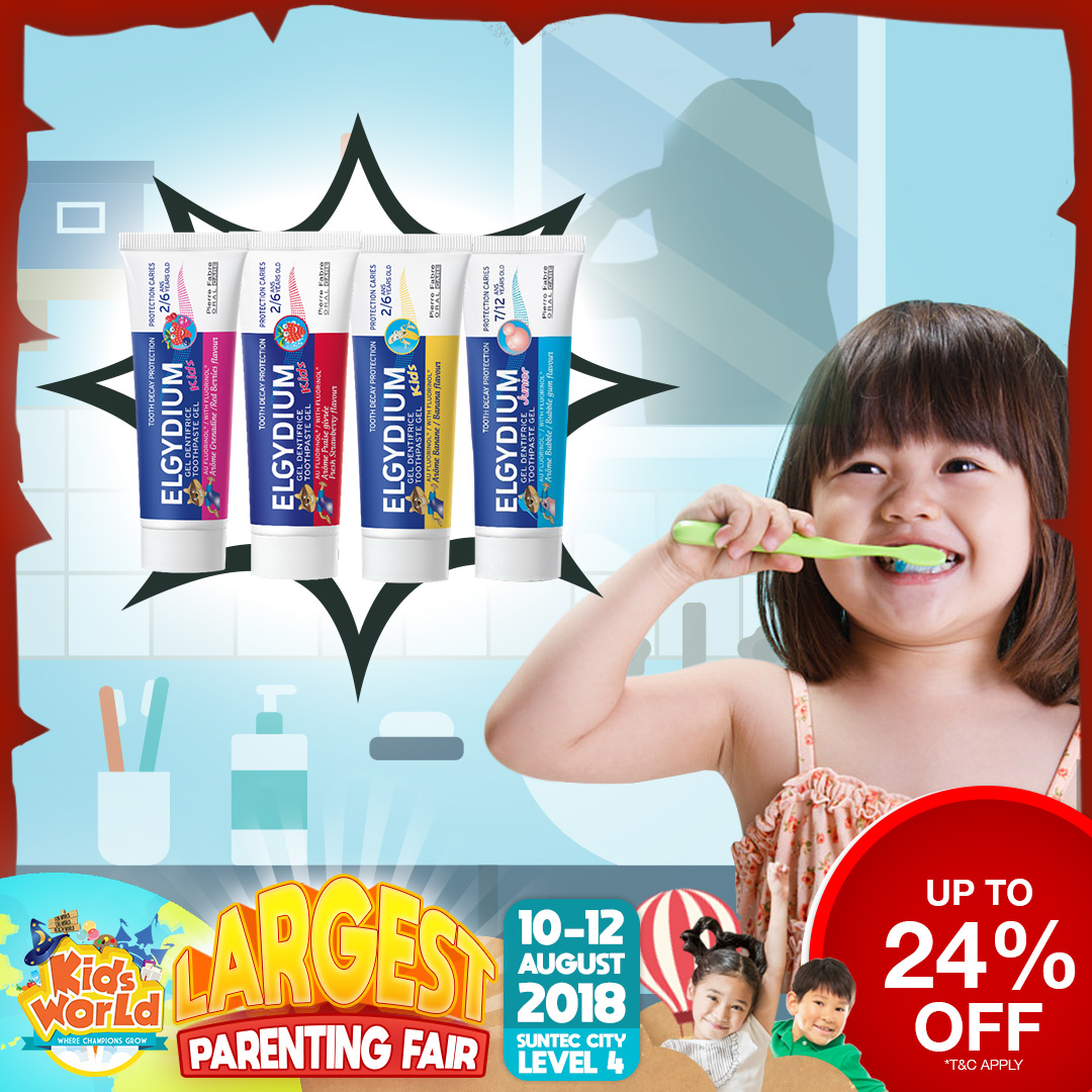 Elgydium Kids Toothpastes + FREE Travel Sized Toothpaste