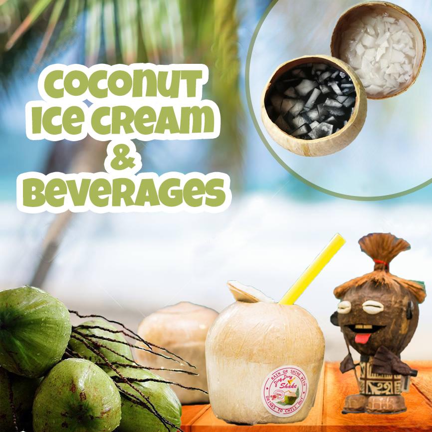 Sale of Coconut Ice Cream & Beverages
